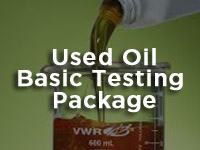 used recyceled fuel testing package