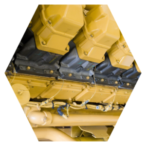 diesel fuel generator hexagon image