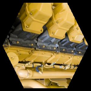 diesel fuel generator hexagon image